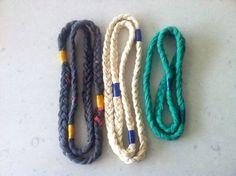 gevlochten armband van repen oud t-shirt