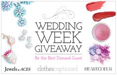 I just RSVP'd to Wedding Week on Clothes Captioned. For your chance to win prizes from HeartCoeur and Jewels & Aces, visit www.clothes-captioned.com/weddingweek