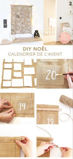 DIY 70 – Calendrier de l'avent – I do it myself – Fabric Advent Calendar, Diy Calendar, Christmas Countdown, Christmas Diy, Xmas, Calendrier Diy, Diy Bags Patterns, Advent Calenders, Diy Jewelry Holder