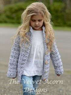 Listing for CROCHET PATTERN ONLY of The Dusklyn Sweater. This sweater is handcrafted and designed with comfort and warmth in mind…Perfect accessory for all seasons. All patterns are american english written instructions in standard US standard terms. **Sizes included 2, 3/4, 5/7, 8/10, 11/13, 14/16, S/M, L/XL sizes. **Any super bulky weight yarn can be used. Finished approx. measurements with sweater folded closed: 2 (sweater 27.25 inch chest circumferen...