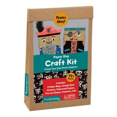 Pirates Ahoy! Paper Bag Craft Kit Paper Bag Craft kits Mudpuppy Mudpuppy