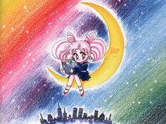 ChibiUsa (Back Cover for the Kodansha Tankōbon, Vol. from Bishoujo Senshi Sailor Moon Original Picture Collection, Vol. Sailor Moon Manga, Sailor Moon Art, Sailor Moon Crystal, We Heart It, Cute Anime Coupes, Japanese Cartoon, Kawaii, Sailor Scouts, Book Images