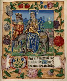 """Heure de Notre-Dame de Pitié ; """"Fuite d'Egypte"""" (1401-1500). Bibliothèque-médiathèque de Nancy, Ms 305"""