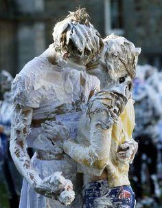 Bizarre tradition: Foam fight at St Andrews University, Scotland - (21 Photos)