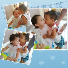 Brother and Sister..how cute they are..si ganteng n si cantik akur bangett..
