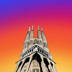 Sagrada Familia  #minimalmonster #architecture #design #modernarchitecture #art #digitalart #minimalist #minimal #minimalart #minimalism #doodle #sketch #drawing #painting #architecturesketch #architecturestudent #archilover  #next_top_architects #archdaily #architecture_hunter #arch_more #artcollective #sagradafamilia #antonigaudi #gaudi