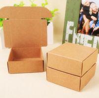 50 pezzi 7*7*3 cm carta kraft confezione regalo personalizzata scatola del mestiere contenitore di cartone per imballaggio sapone fatto a mano/caramella spedizione gratuita