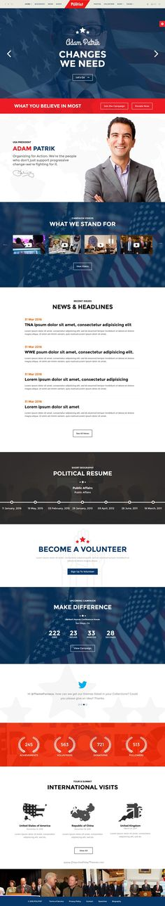 Politist is perfect responsive WordPress #Themes for #Politician or Activism personal #website. Download Now!