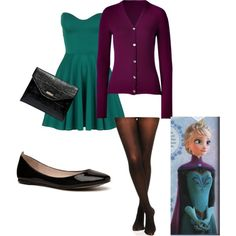 Frozen Coronation Elsa outfit I just love this color combination so much!