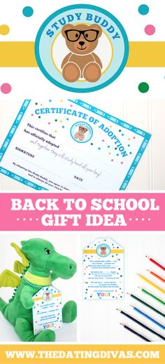 Study Buddy Back to School Gift Idea - such a sweet one and so easy too!