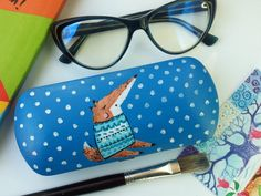 71a6eacd0 Fox in sweater Winter mood Glasses case Sunglass by glassescrew Glasses  Case Hard, Fox Sweater