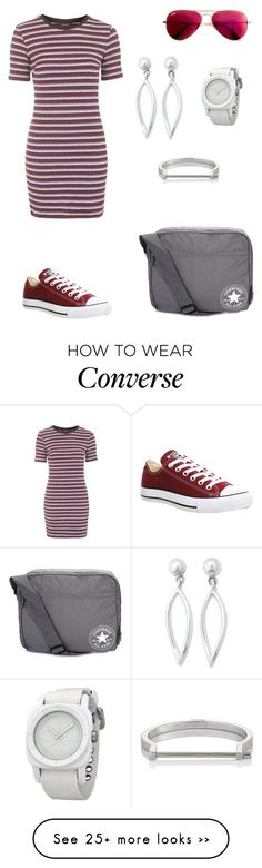 """Converse."" by gatocat on Polyvore featuring Topshop, Converse, Ray-Ban, MIANSAI and NOVICA"