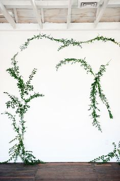 DIY vine wall backdrop - photo by Kristina Curtis Photography http://ruffledblog.com/diy-vine-wall-backdrop #diybackdrop #weddingideas