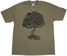 Manifest - 'Know Your Roots - Dark Green' (Men's T-Shirt) from UGHH | Econome Lifestyle Clothing