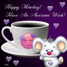 Happy Monday Quotes Discover Have an awesome week Have an awesome week monday week happy monday happy monday quotes happy new week morning nights days Good Morning Monday Messages, Monday Morning Gif, Good Morning God Quotes, Monday Wishes, Monday Greetings, Good Morning Happy Monday, Happy New Week, Good Morning Greetings, Morning Wish