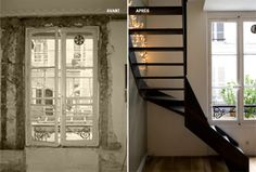Black Stairs, Style Loft, Construction, Decoration, Ideas, Home Decor, Live, Duplex Apartment, Before After
