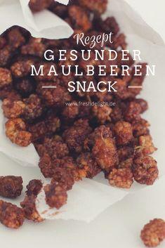 Schokoladiger gesunder Snack - Maulbeeren vegan, lecker
