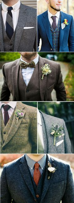 Grooms in tweed