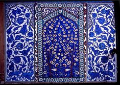 Tile mosaic on the türbe — tomb of Sultan Süleyman the Magnificent and his wife Haseki Hürrem Sultan in the cemetery of the Süleymaniye. The architect Miman Sinan is also buried here.