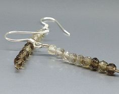 Shaded Smokey Quartz earrings with Sterling silver hooks - gift idea  by gemorydesign. Explore more products on http://gemorydesign.etsy.com