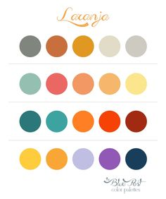 The Blue Post: Color Palettes - Laranja