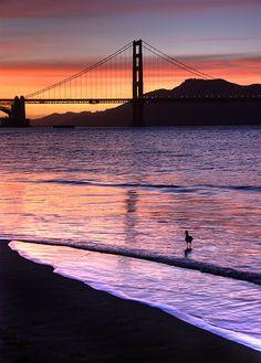 A beautiful view of the Golden Gate Bridge, San Francisco, CA
