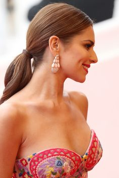 Cheryl Cole Ponytail - Cheryl Cole wore her hair in an elegant ponytail during the Cannes premiere of 'Slack Bay.'