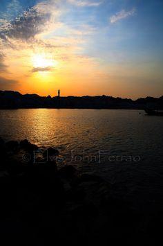 Sunset | Muttrah Corniche, Oman. https://www.facebook.com/OmanPocketGuide  credit: Elvis John Ferrao #oman