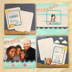 Summer Fun Pockets Page by Sankari Wegman #Scrapbooking , #PocketsandPages, #PocketScrapbooking