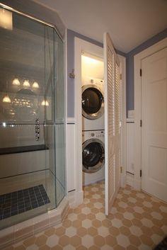wasmachine en droogkast