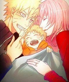 Family | Naruto x Sakura | NaruSaku | Heaven & Earth | Orange / Yellow & Pink / Red | The Hero & The Heroine | Naruto Shippuden Couple | OTP