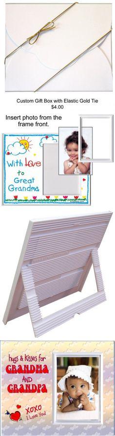 Hugs & Kisses for Grandma and Grandpa - Picture Frame Gift