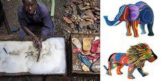 Com sede em Nairóbi, capital do Quênia, o negócio reaproveita sandálias velhas e outras peças de borracha encontradas nas praias do país.