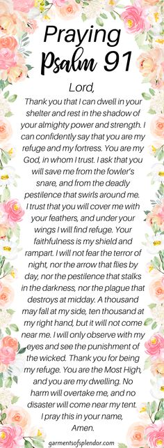 psalm 91 prayer faith psalm 91 prayer - psalm 91 prayer scriptures - psalm 91 prayer faith - psalm 91 prayer secret places - psalm 91 prayer kjv - psalm 91 prayer of protection - psalm 91 prayer bible verses - psalm 91 prayer catholic Psalm 91 Prayer, Praying The Psalms, Prayer Scriptures, Bible Prayers, Faith Prayer, God Prayer, Prayer Quotes, Power Of Prayer, Scripture Verses