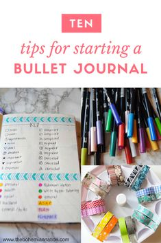 Bullet Journal Bootcamp with Bohemian Nation: What to Buy to Start Bullet Journaling, What Pages to Include in a Bullet Journal, and What to Do When You Feel like You're Not Creative Enough | lettering | handlettering | calligraphy | planner | agenda | best planners | tombows | crayola | markers | washi tape | scrapbooking supplies | get started Bullet Journaling