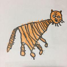 Un tigre dibuixat per la Laia als 4  anys.
