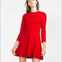 Flared A line clean dress crew neck Flared A line clean dress crew neck, size form xs to xxl Dresses Midi