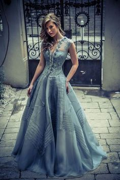 Modest Ball Gown,Lace Prom Dress,Custom Made Evening Dress,17260