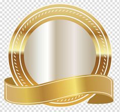 Gold Scalable Graphics, Gold Seal with Gold Ribbon , round gold and white logo transparent background PNG clipart Ribbon Png, Ribbon Banner, Studio Background Images, Star Background, Kreis Logo, Logo Online Shop, Fond Design, Solid Geometry, Certificate Design Template