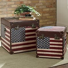 Set of 2 Americana Trunks from Through the Country Door®
