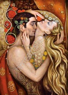 """Ирин Каркаб """"Объятия любви"""", картина раскраска по номерам, на подрамнике, кисти и краски в комплекте, размер 40*50см, цена 750 руб"""