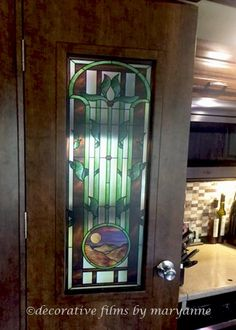 Custom stained glass decorative window film for windows and graphics clings. Glass window film stained glass film window clings removable murals and ... & Tulip Arch Transparent Faux Privacy Stained Glass Clings and ...