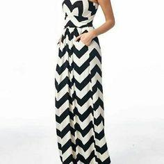 Maxi Dress Chevron print maxi dress Dresses Maxi