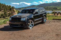 Custom Jeep Carbon fiber all around, lowered, custom rims, borla, and much more; Srt8 Jeep, Mopar, Jeep Wk, 2006 Jeep Grand Cherokee, Lowrider Trucks, Dropped Trucks, Hemi Engine, Dodge Chrysler, Nissan 350z