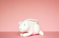 Imogen the Rabbit. Isn't she lovely? Learn how to needle felt basic features like this on your amigurumi using yarn at Projectarian.com  #crochet #plush