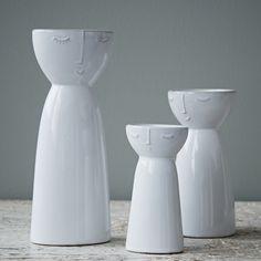 Visage vases by Hubsch
