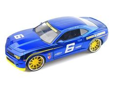 Jada Toys Big Time Kustoms 1/24 Scale 2010 Chevrolet Chevy Camaro SS Sunoco #6 Blue Diecast Car Model 92488
