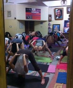 If you practice Ashtanga..This is funny! Guided Practice at the K. Pattabhi Jois Ashtanga Yoga Institute