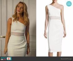 Petra's white one-shoulder dress on Jane the Virgin. Outfit Details: https://wornontv.net/81741/ #JanetheVirgin
