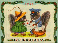 """""""The Golden Calendar - 1956"""" Illustrated by Richard Scarry (http://goldengems.blogspot.com/2009/02/golden-calendar-1956.html)"""